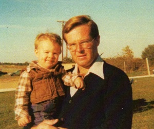 Luke Austin Daugherty & Dad, Joe Daugherty, in Sept. 1978